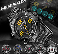 WEIDE Men Fashion Analog Digital Sport Watch Stainless Steel Stopwatch/Alarm Backlight/Waterproof Cool Watch Unique Watch