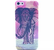 Elephant Pattern PC Material Phone Case for iPhone 5C