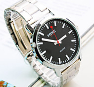 Men's New Casual Simple Business Round Dial PC Movement Steel Strap Fashion Life Waterproof Quartz Watch