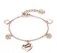 Stainless Steel Rose Gold Plated Charm Bracelets