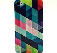 Geometrical Pattern TPU Soft Back Case for iPhone 4/4S