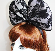 Oversized Lace Bow Headband Christmas Halloween Party Photo Styling Hair Accessories