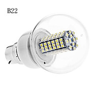E14/B22 5 W 102 SMD 3528 420 LM Warm White/Cool White G Globe Bulbs AC 220-240/AC 110-130 V