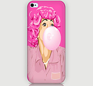 Pink Lady Pattern Phone Back Case Cover for iPhone5C