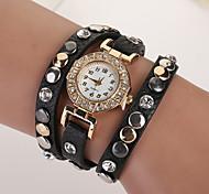 New Summer Style Leather Star Bracelet Wristwatch Dress Watches Women Top Brand Luxury Gold Quartz Watch