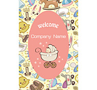 Business Cards 200pcs Baby Children Pattern 2 Sided Printing of Film Art Filmed Paper