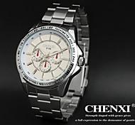 CHENXI® Men's Dress Watch Fashion Design Silver Steel Strap