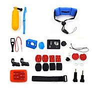 ourspop 22-in-1 kit di accessori gp-K11 per GoPro eroe 4 hero3 + fotocamera hero3
