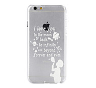 I Love You To The Moon Pattern Transparent PC Hard Back Cover Case for iPhone 6