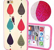2-in-1 Bling Bling Leaves Pattern PC Back Cover with PC Bumper Shockproof Hard Case for iPhone 6