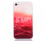 Red Cloud Pattern TPU Material Phone Case for iPhone 4/4S