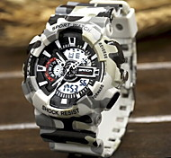 Men's Army Camouflage Design Sport Watch Analog-Digital Calendar/Chronograph/Alarm/Water Resistant