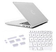 3 in 1 Matte Case with Keyboard Cover and Silicone Dust Plug for Macbook Retina 13.3 inch