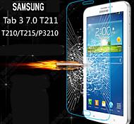 hd ultra delgado claro a prueba de explosión de vidrio templado cubierta protector de pantalla para samsung galaxy tab 3 7.0 T210