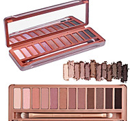 12 Color Crease Eye Shadow 3in1 Matte Shimmer&Glitter Palette Original Urban Decay Color with Brush&Mirror