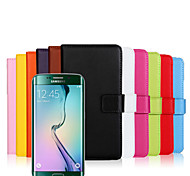Genuine Leather Wallet Case for Samsung Galaxy S6 Edge Plus (Assorted Colors)