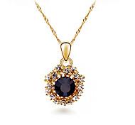 HUALUO®Korean Version of the Diamond Gemstone Pendant Necklace