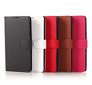 5.7 Inch Lichee Pattern Hand Strap Luxury Leather Case for Samsung Note 4(Assorted Colors)