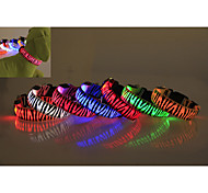 Zebra Pattern LED Lighting Collars Pet Collars Dog Collars