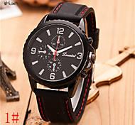 orologio di sport del silicone della fascia di quarzo del anolog maschile (colori assortiti)