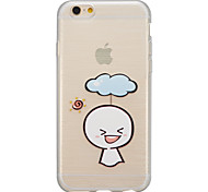 Translucent ultra-thin mobile wiredrawing iPhone6plu shell soft glue TUP material support
