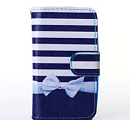 Bowknot Pattern PU Leather Full Body Case with Stand for Alcatel One Touch POP C3