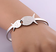 Classic Fashion Pisces Stainless Steel Bracelet