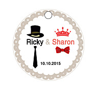 Personalized Gift Tags Bride & Groom Dress Pattern with Art Paper 30pcs/set