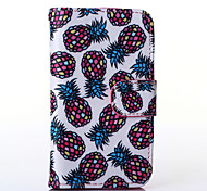 Pineapple Pattern PU Leather Full Body Case with Stand for Alcatel One Touch POP C3