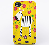 Cartoon Zebra Pattern ABS Hard Back Case for iPhone 4/4S