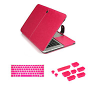 "Business Leather Hasp Case bag with Keyboard Cover Flim and Silicone Dust Plug for Macbook Pro 13.3"" (Assorted Colors)"