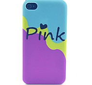 Pink Milk Pattern PC Material Phone Case for iPhone 4/4S