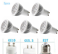 Spot LED Gradable Blanc Chaud / Blanc Froid MORSEN 5 pièces MR16 GU10 / GU5.3(MR16) / E26/E27 5W 5 LED Haute Puissance 350-400 LMAC