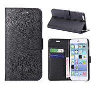 Litchi Texture Leather Case with Card Slots and Holder
