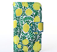 Lemon Pattern PU Leather Full Body Case with Stand for Multiple Samsung Galaxy S5Mini/S4Mini/S3Mini