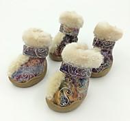 Fasion  PU Leather New Style Fashion Pet Shoes Dog Boots
