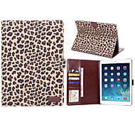 Leopard Style PU Leather Case Card Slots & Wallet with Holder for iPad Air 2 (Assorted Colors)
