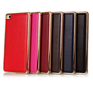 5.2 Inch Metal-Frame and Genuine Leather Two-in-One Model Back Cover Case for Huawe P8 (Assorted Colors)