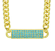 Gold Plated Chunky Chain Fashion Jewelry Necklace