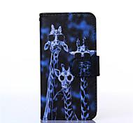 Giraffe Pattern PU Material Card Full Body Case for Samsung Galaxy  A3/A5/A7