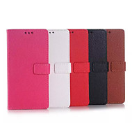 5.2 Inch Lichee Pattern PU Wallet Leather Case with Stand for Sony Z4 (Assorted Colors)