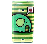 Love Elephant  Pattern Glitter TPU Cell Phone Soft Shell For Nokia Lumia N535 / Microsoft Lumia 535