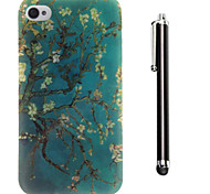 The Paintings Pattern TPU Soft Back and A Stylus Touch Pen for iPhone 4/4S