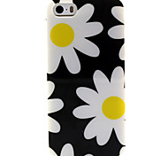 Fashion Design COCO FUN® Yellow Daisy Pattern Soft TPU IMD Back Case Cover for iPhone 5/5S