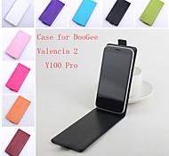 de cuero flip caso protector magnético para valencia doogee 2 Y100 pro (colores surtidos)