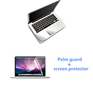 ultrafino guardia palma plata y protector de pantalla HD con el paquete para el macbook retina 15,4 pulgadas