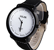 Men's Round Cross Manual Machine Band Fashion Wrist Watch(More Color)