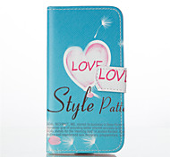 Love Pattern PU Leather Painted Phone Case For iPhone 6