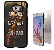 Wish Chance and Change Design Aluminum High Quality Case for Samsung Galaxy S6 SM-G920F
