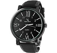 Men's Round Cross Manual Machine Band Fashion Wrist Watch